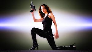Eliza Dushku Kickass chick in leather &amp;amp; Boots wallpaper